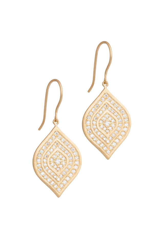 Aladdin Yellow Gold Layered Diamond Earrings