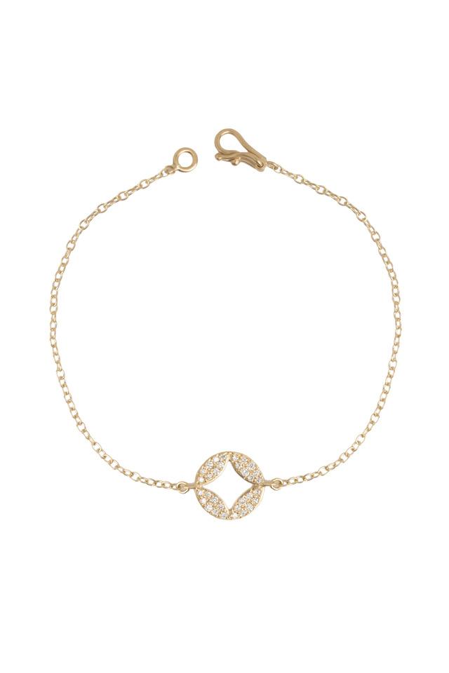 Aladdin Yellow Gold Pavé-Set Diamond Disc Bracelet