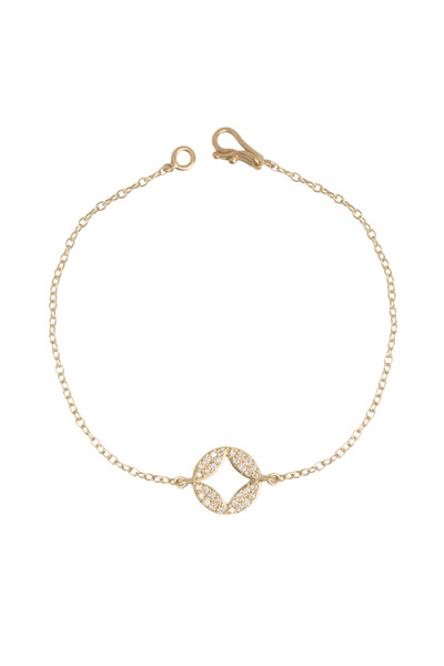 Jamie Wolf - Aladdin Yellow Gold Pavé-Set Diamond Disc Bracelet