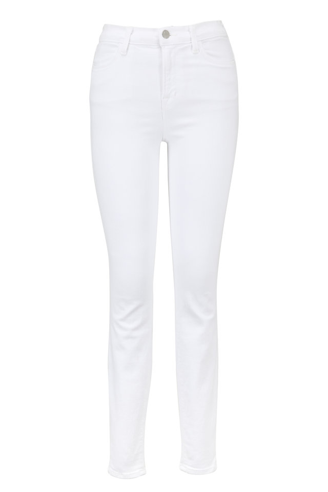 Maria White High-Rise Super Skinny Jean