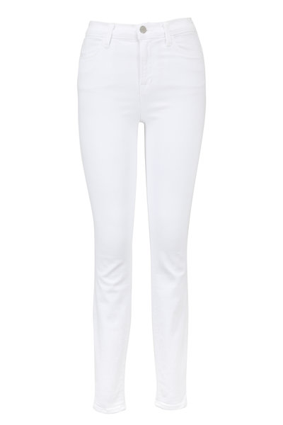 J Brand - Maria White High-Rise Super Skinny Jean