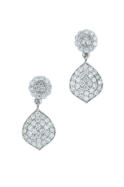 Jamie Wolf - White Gold Pavé-Set Diamond Acorn Earrings