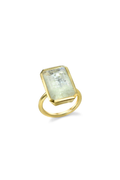 Irene Neuwirth - Yellow Gold Emerald-Cut Moonstone Ring