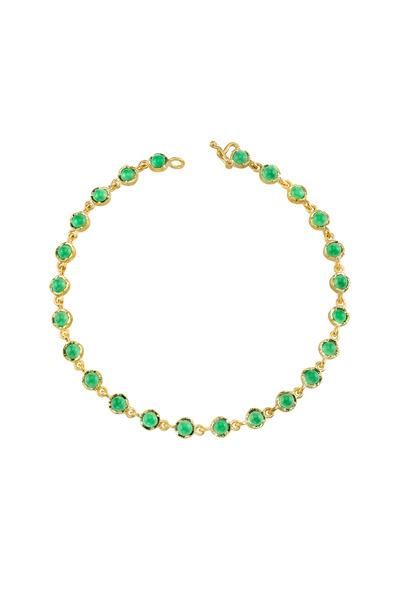 Irene Neuwirth - Yellow Gold Chrysophrase Bracelet