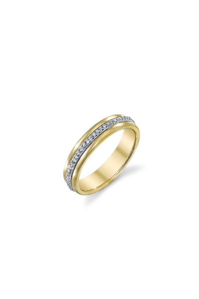 Irene Neuwirth - Yellow Gold Pavé-Set White Diamond Band