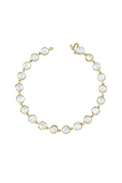 Irene Neuwirth - Yellow Gold Rainbow Moonstone Bracelet