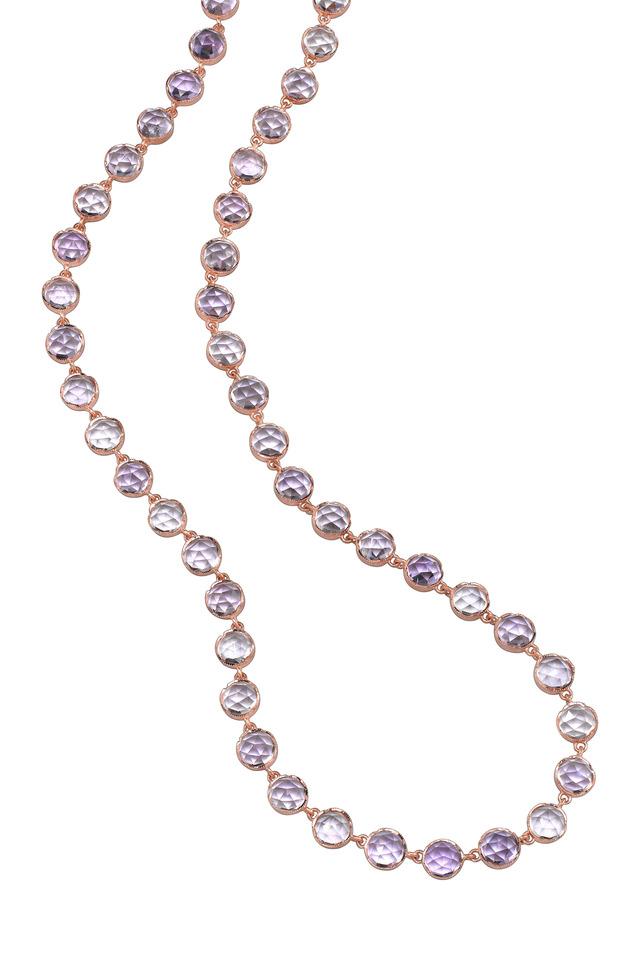 Rose Gold Rose De France Amethyst Necklace