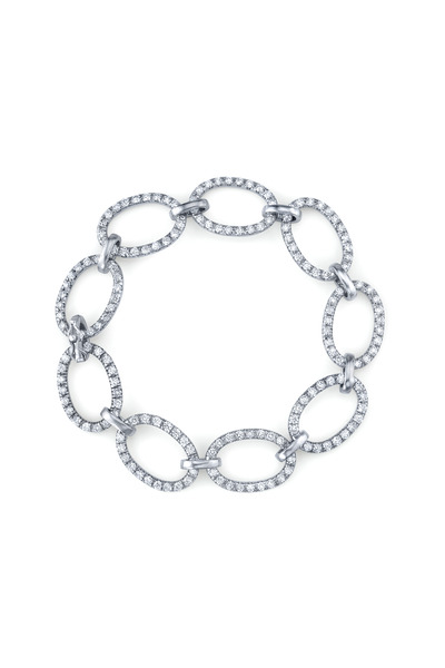 Irene Neuwirth - White Gold Large Link Pavé-Set Diamond Bracelet