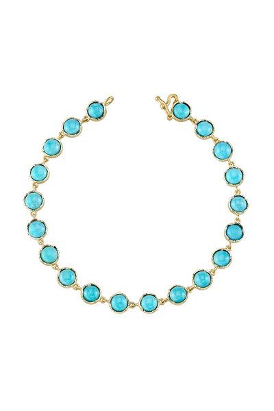 Irene Neuwirth - Yellow Gold Turquoise Bead Bracelet