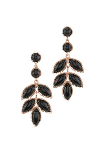 Irene Neuwirth - Rose Gold Black Onyx Earrings