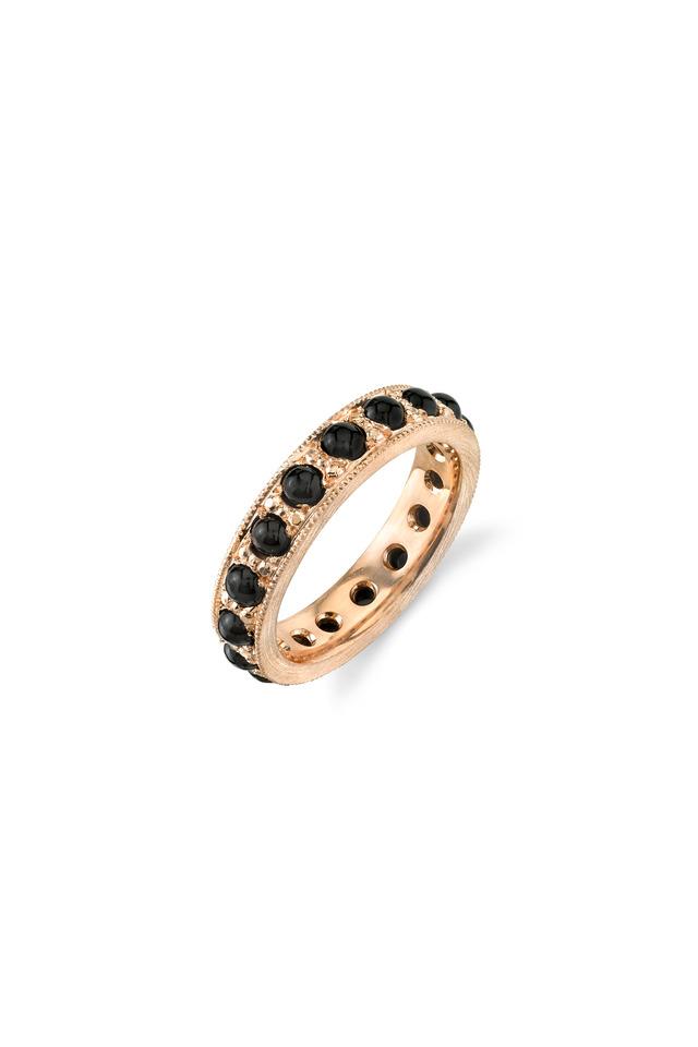 Rose Gold Black Onyx Ring