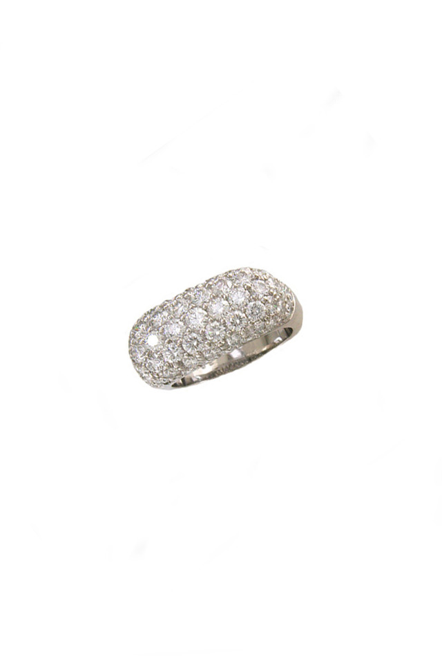 Platinum Diamond Dome Ring