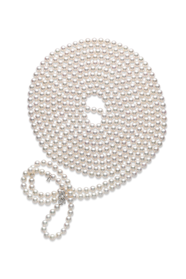 White Gold A1 Pearl Necklace