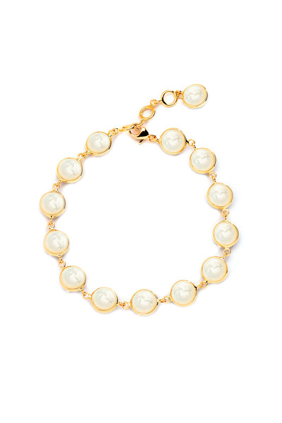 Syna - Yellow Gold Mother Of Pearl Chakra Bracelet