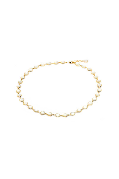 Syna - Yellow Gold Mother Of Pearl Chakra Necklace