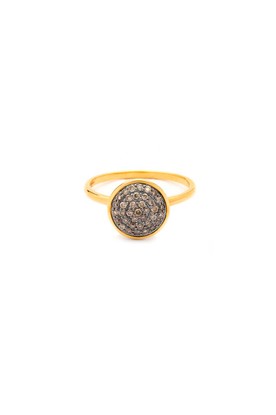 Syna - Yellow Gold Champagne Diamond Chakra Ring