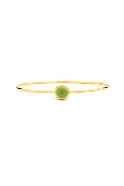 Syna - Yellow Gold Peridot Stack Bracelet