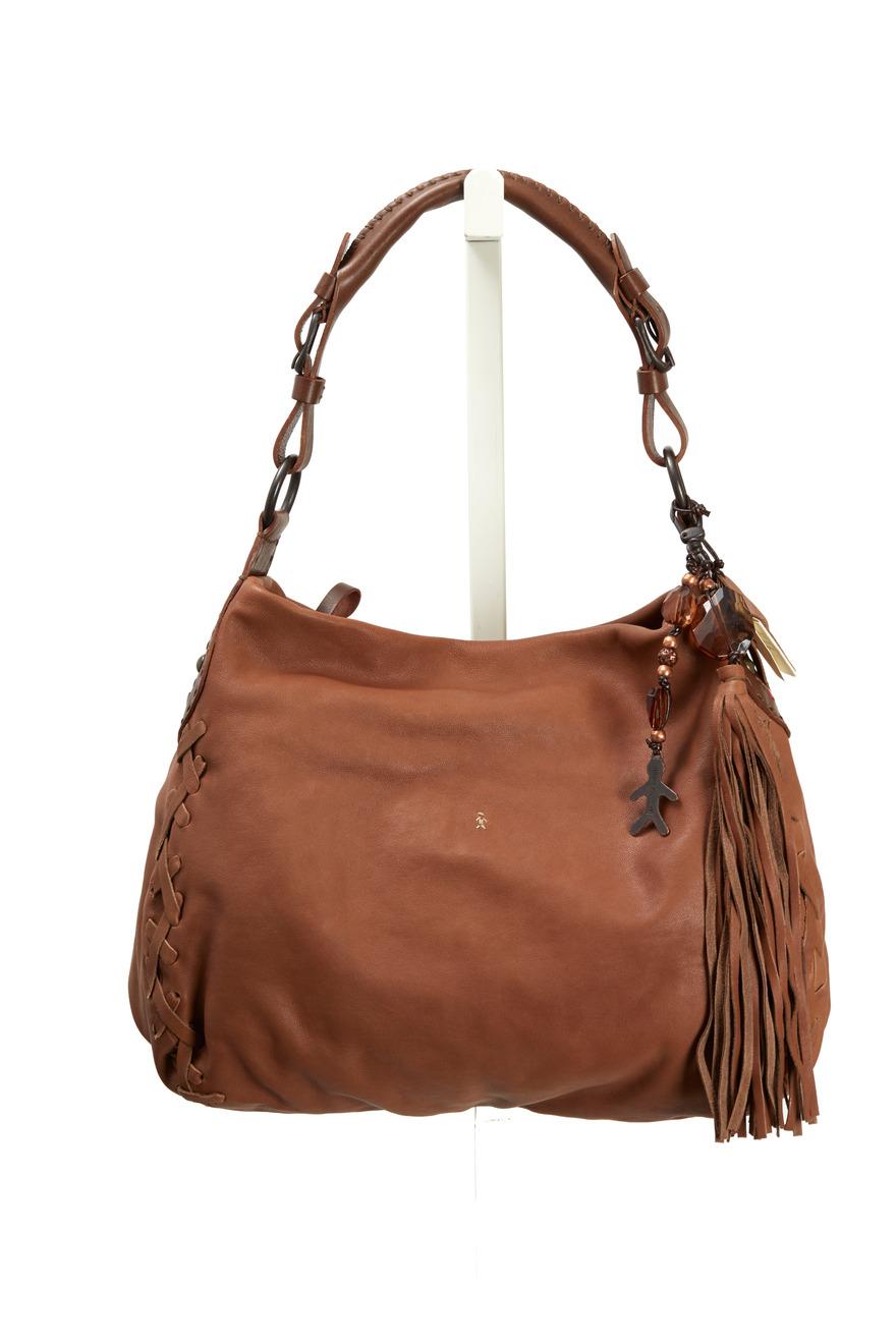 Sigaro Madison Tan Leather Handbag