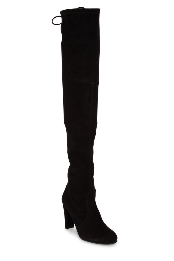 Stuart Weitzman Highland Black Suede Over-The-Knee Boot, 90mm