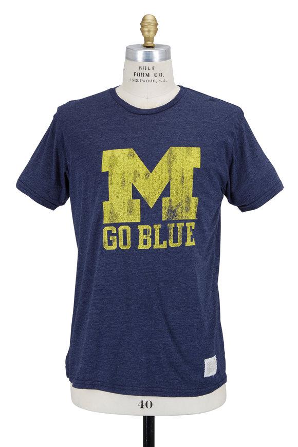 Retro Brand Navy Blue Michigan Go Blue T-Shirt