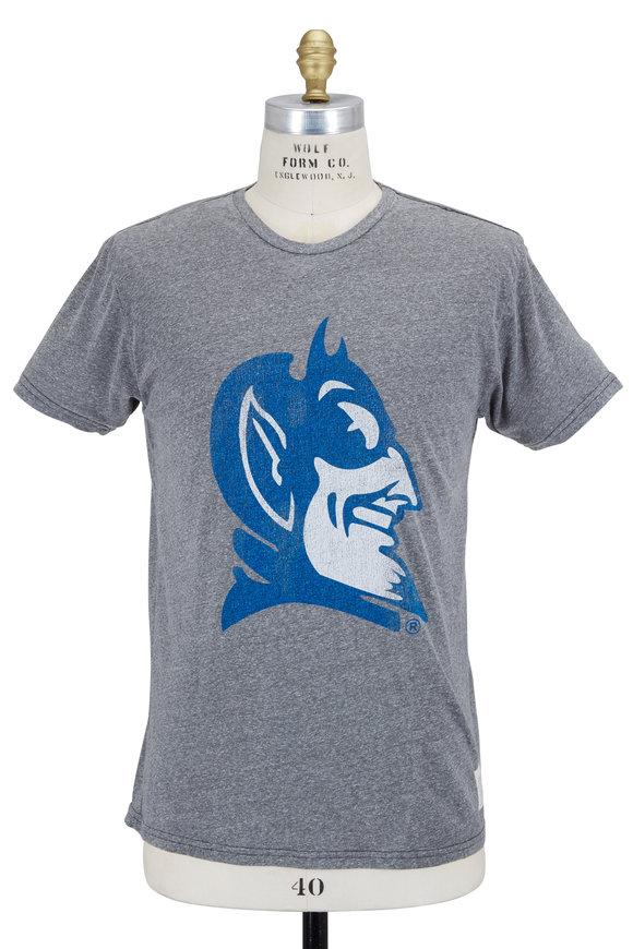Retro Brand Heather Gray Duke Blue Devils T-Shirt
