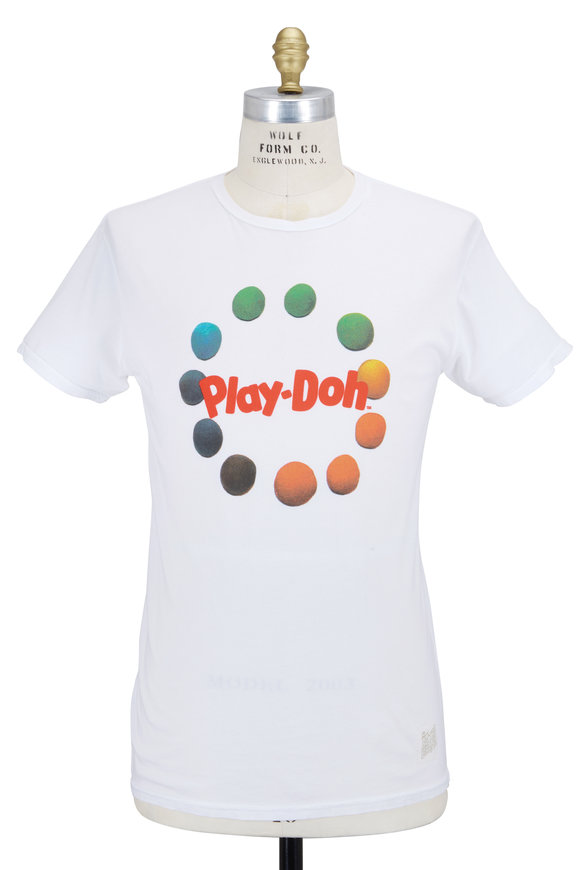 Retro Brand White Play Doh Cotton T-Shirt