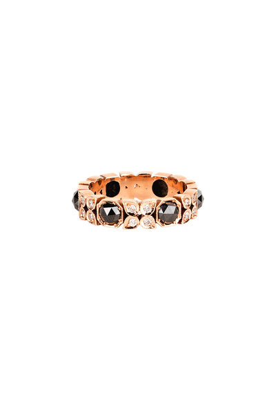 Sylva & Cie - Black Diamond Band Ring