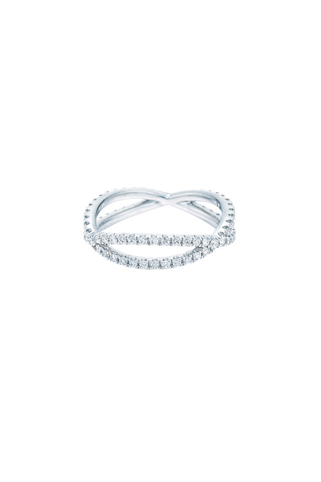 18K White Gold Diamond Fidelity Band