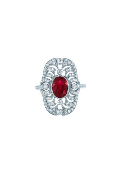 Kwiat - Vintage Ruby & Diamond Ring