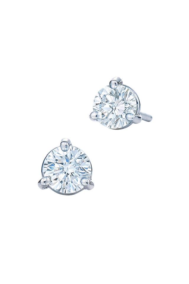 Platinum Diamond Studs, 0.74 TCW