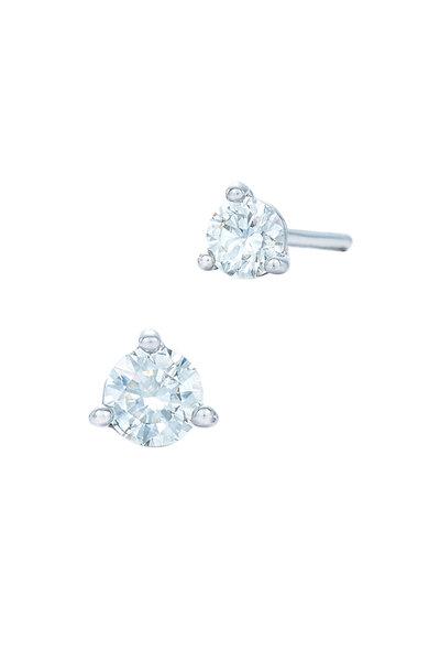 Kwiat - Platinum Diamond Studs, 0.33 TCW