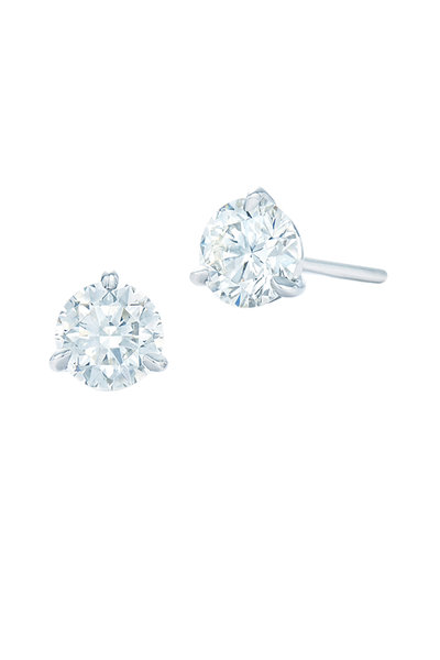 Kwiat - Platinum Diamond Studs, 1.27 TCW
