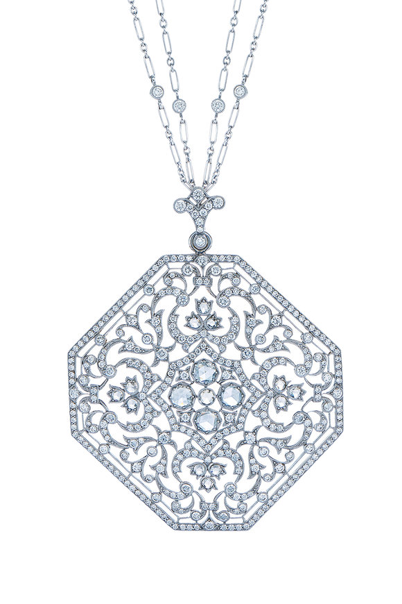 Kwiat 18K White Gold Diamond Medallion Pendant