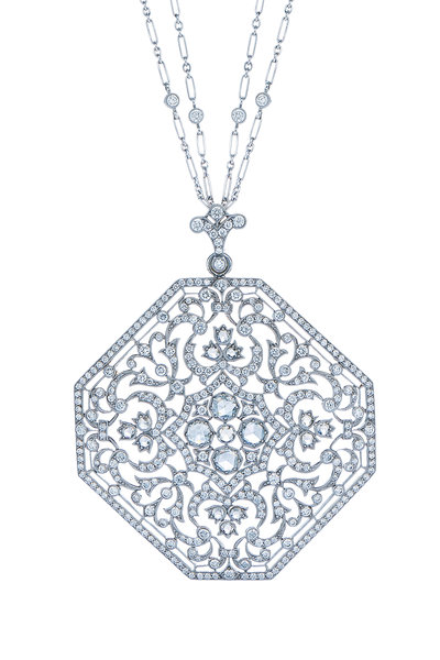 Kwiat - 18K White Gold Diamond Medallion Pendant