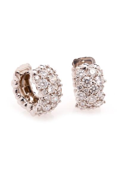 Paul Morelli - 18K White Gold Diamond Hoops