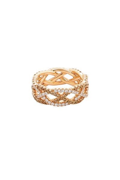 Kwiat - 18K Rose Gold Diamond Twist Ring