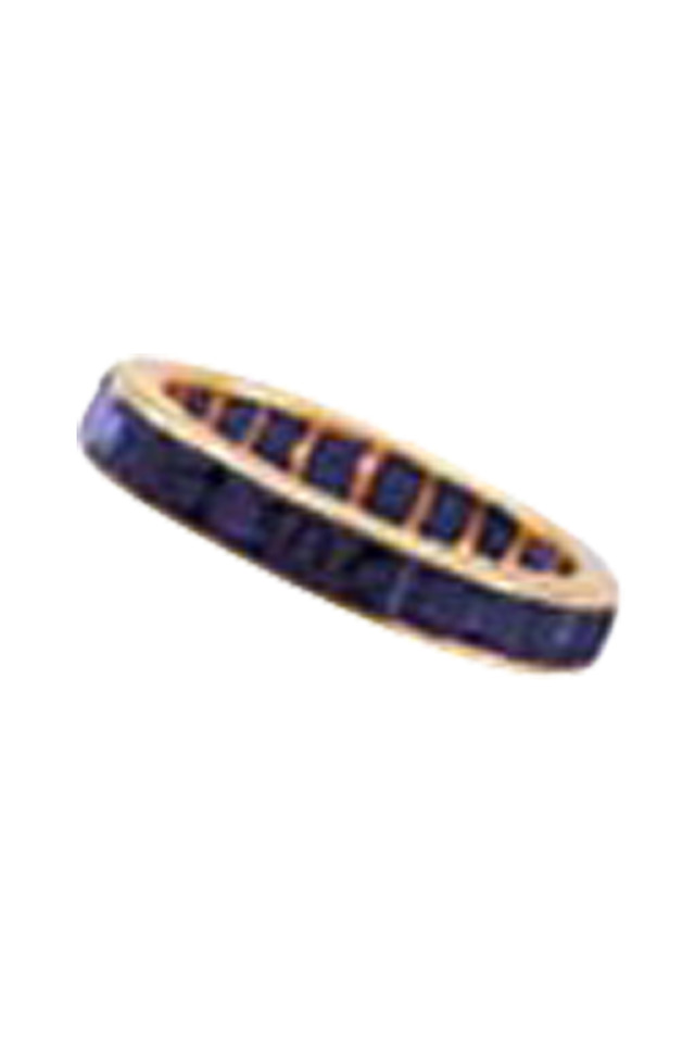 Gold Sapphire Guard Ring