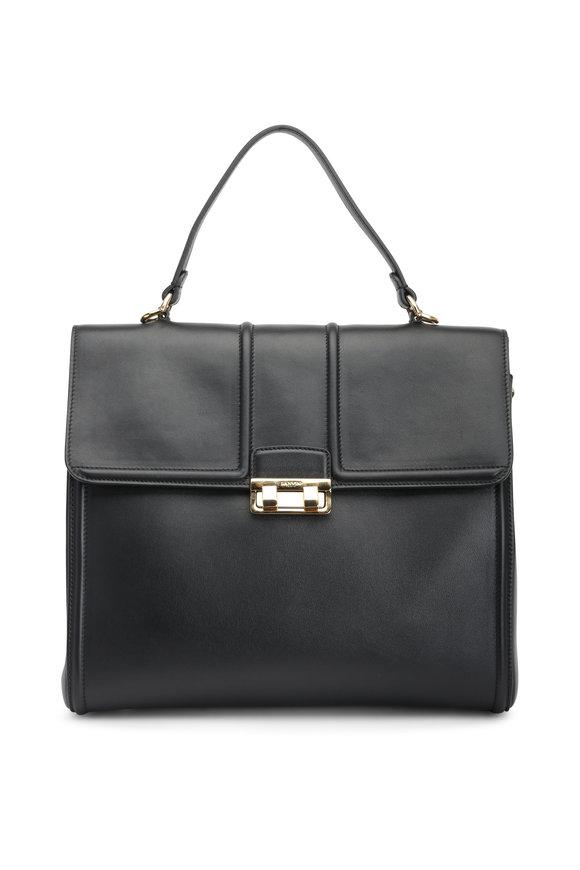 Lanvin Black Leather Top Handle Bag