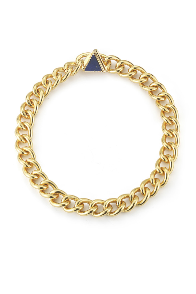 Gold Large Metropolis Chain Link Necklace