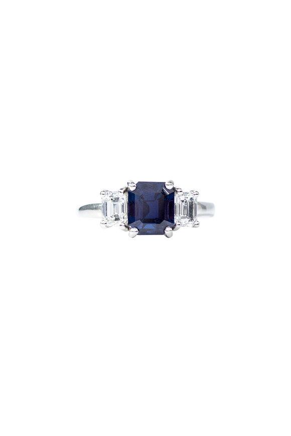 Oscar Heyman Platinum Alexandrite & Diamond Ring