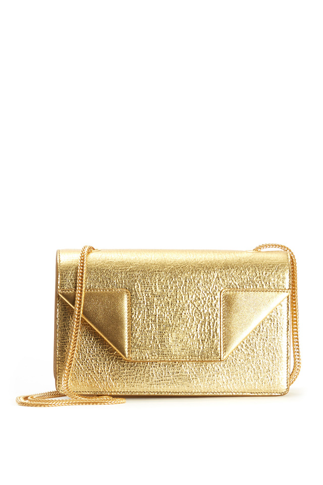 Betty Gold Leather Mini Shoulder Bag