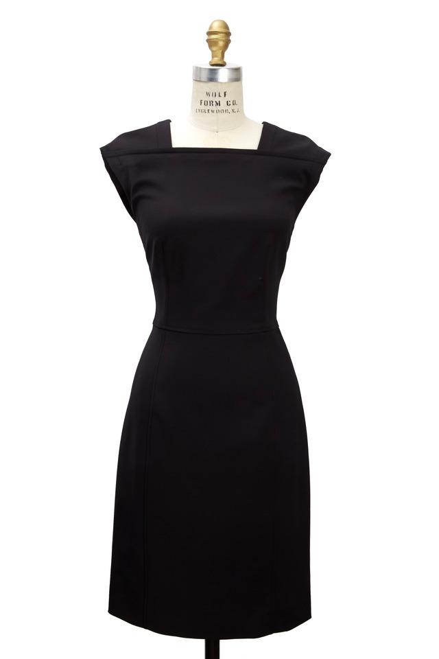 Black Cotton & Nylon Dress