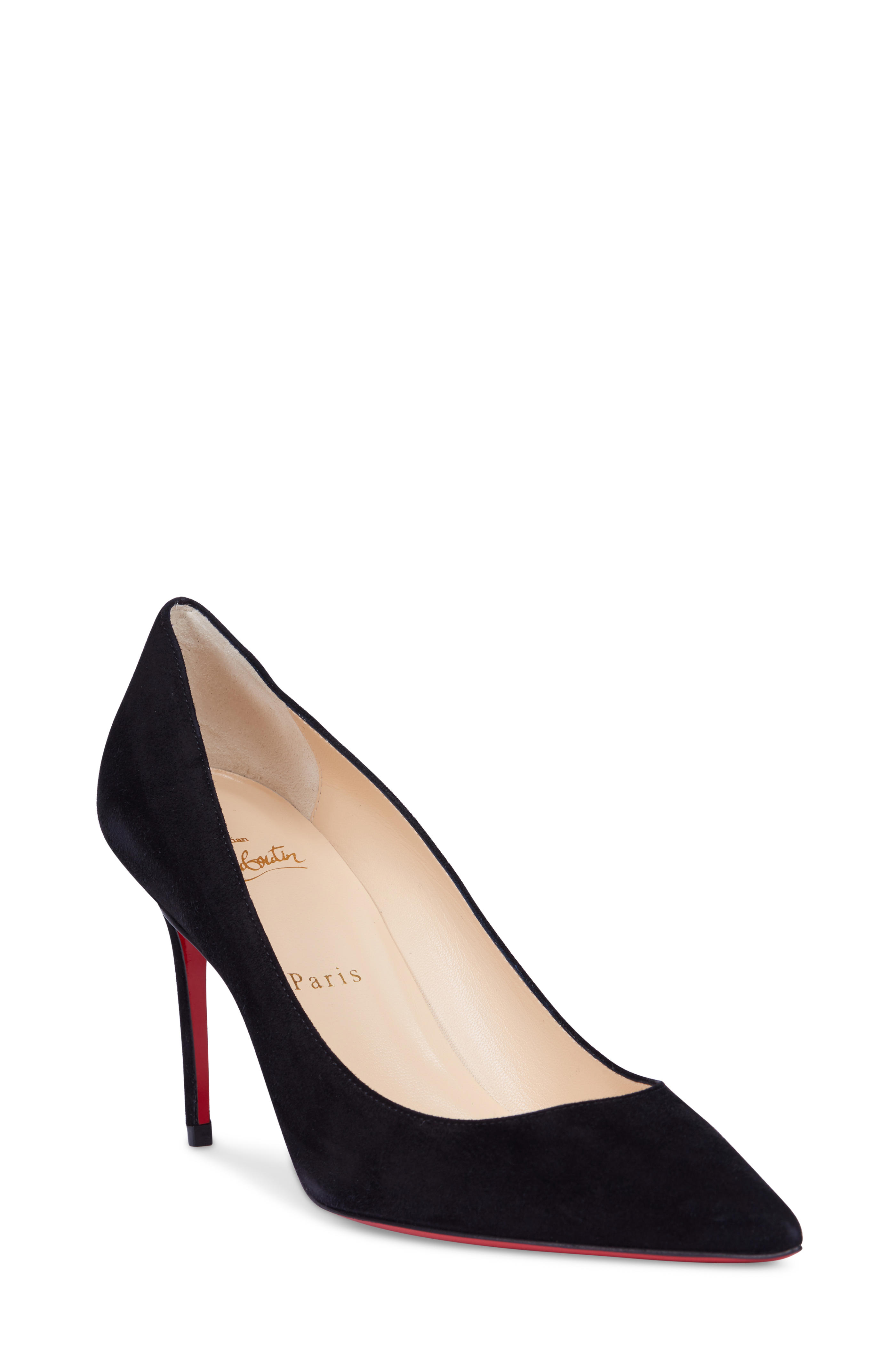 competitive price 7feba 6cfae Christian Louboutin - Decollete Black Suede Pump, 85mm ...