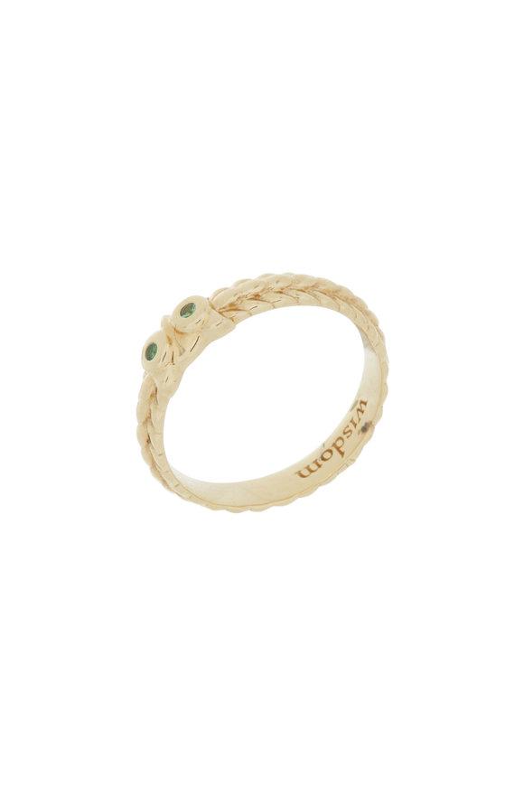 """Monica Rich Kosann 18K Gold Tsavorite """"Wisdom"""" Posey Ring Pendant"""