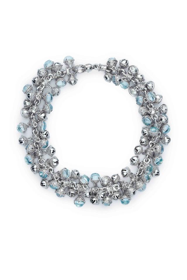 Meditation Bells Sterling Silver Stone Bracelet