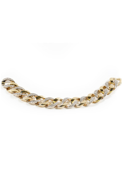 Assael - Yellow & White Gold Diamond Link Bracelet