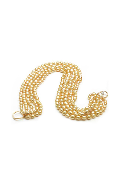 Assael - Angela Cummings Keshi Torsade Gold Pearl Necklace