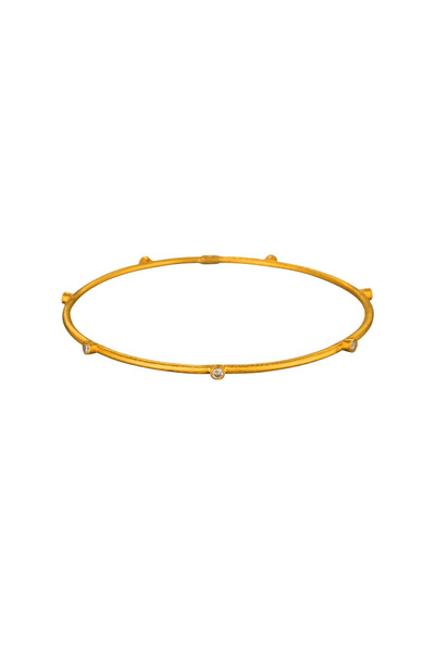 Yossi Harari - Yellow Gold Diamond Bangle