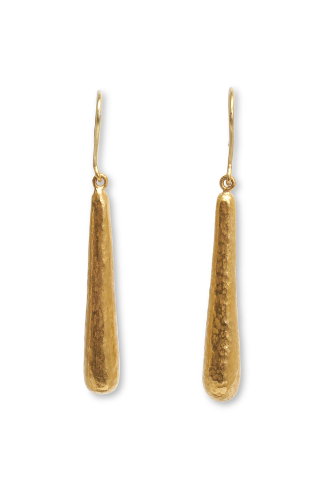 Yellow Gold French Clip Cone Earrings