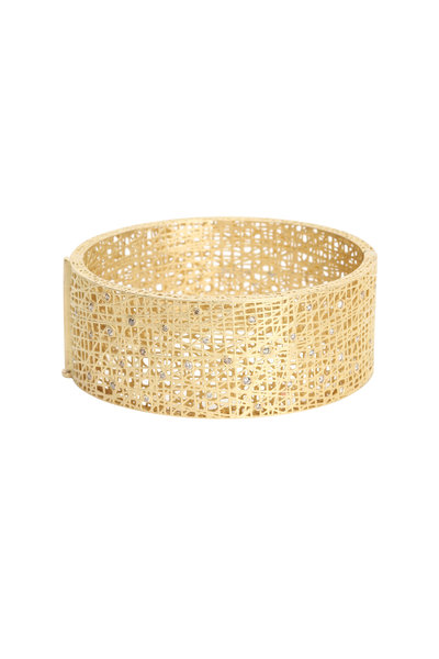 Yossi Harari - 18K Yellow Gold Diamond Lace Cuff Bracelet